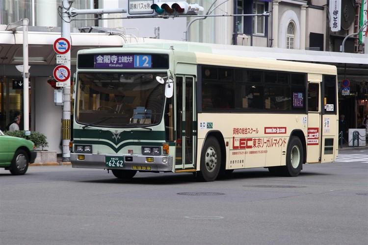 京都市交通局6262 いすゞKC-LV280L