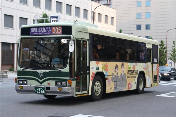 京都市交通局6266 いすゞKC-LV280L