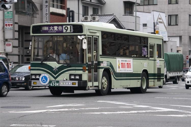 京都市交通局6304 いすゞKC-LV280N