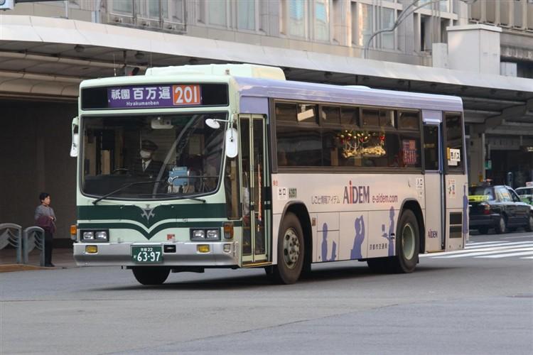 京都市バス6397 いすゞKC-LV280L