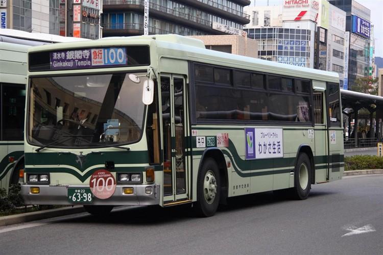 京都市バス6398 いすゞKC-LV280L