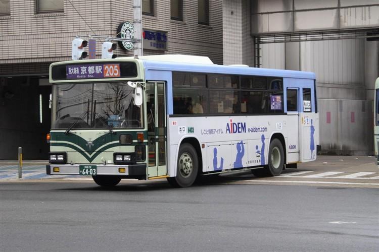 京都市バス6403 三菱KC-MP617K