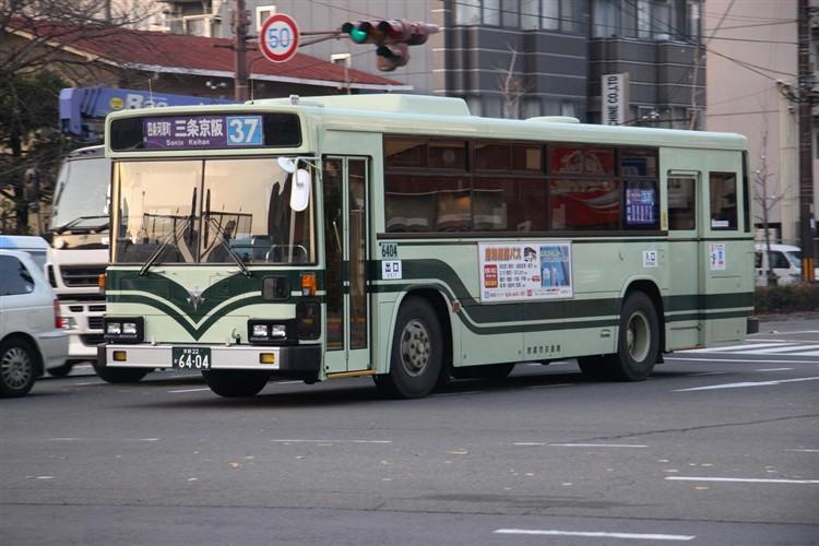京都市バス6404 日野KC-HU2MLCA