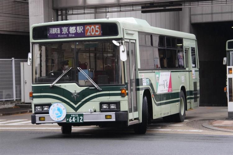 京都市バス6412 いすゞKC-LV280L