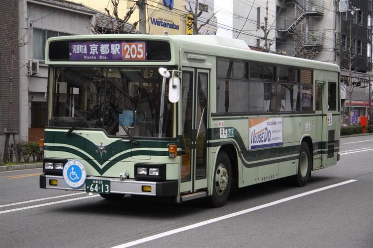 京都市バス6413 いすゞKC-LV280L