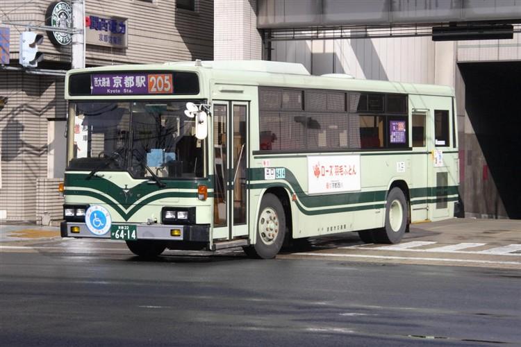 京都市バス6414 いすゞKC-LV280L