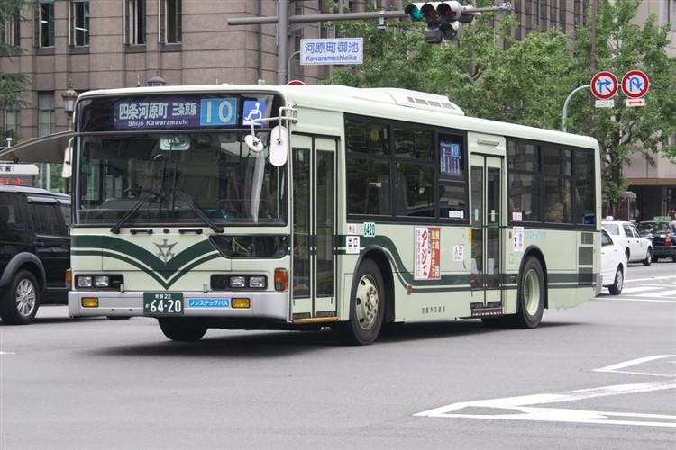 京都市バス6420 三菱KC-MP747M