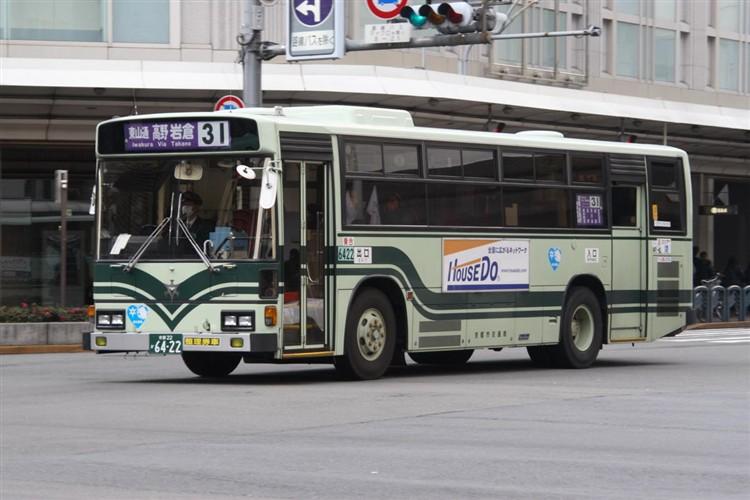 京都市バス6422 日野KC-RU1JLCH