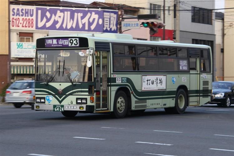 京都市バス6424 日野KC-RU1JLCH