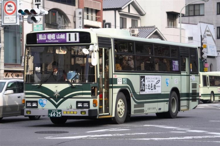 京都市バス6425 日野KC-RU1JLCH