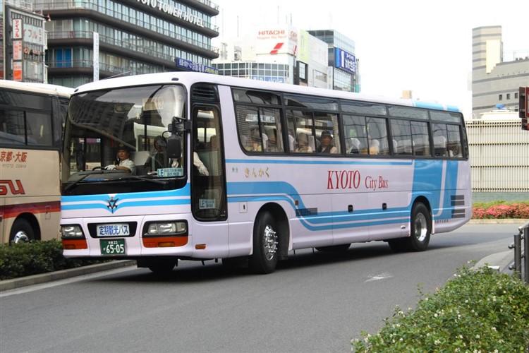 京都市バス6505 いすゞKC-LV781R1