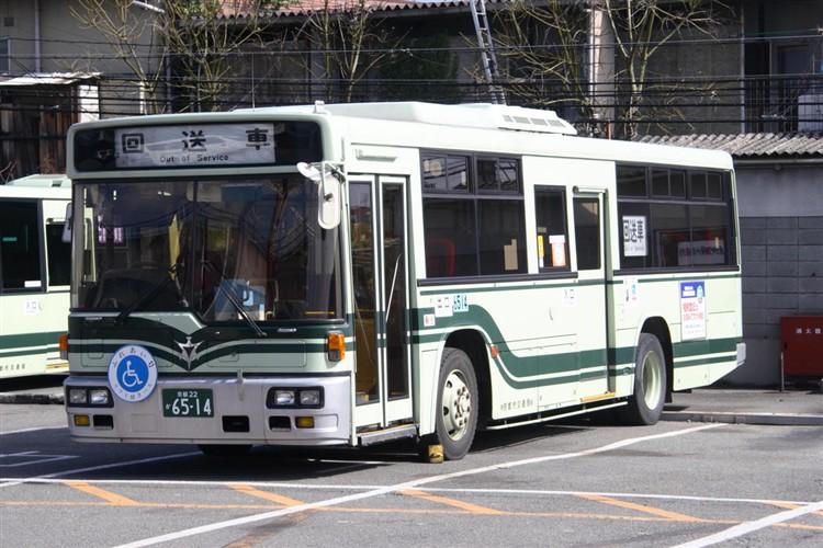 京都市バス6514 三菱KC-MP717K