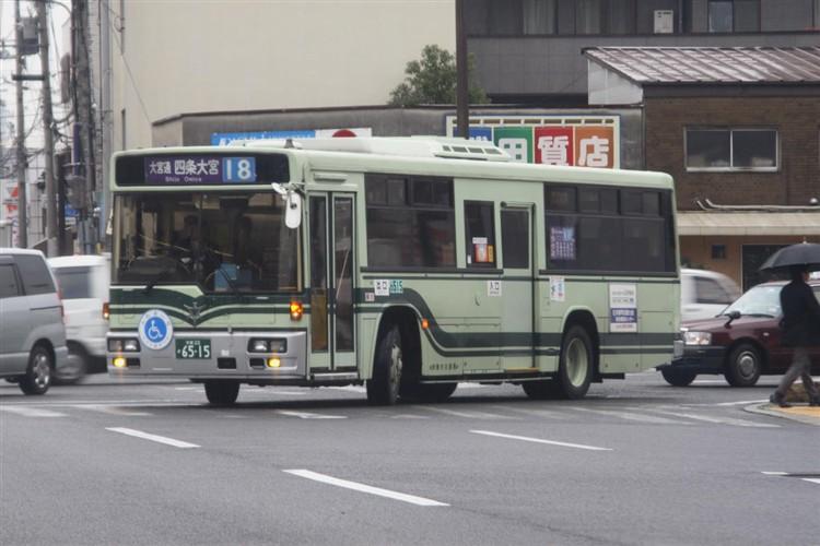 京都市バス6515 三菱KC-MP717K