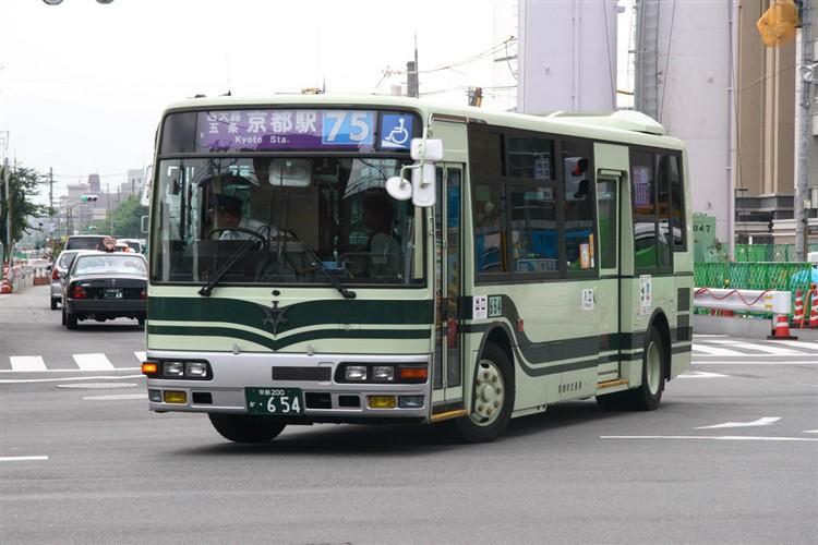 京都市交通局 京都200か・654 三菱KK-MJ27HL