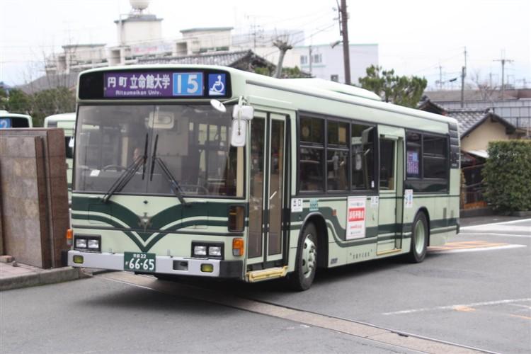 京都市バス6665 日野KC-HU2PMCA