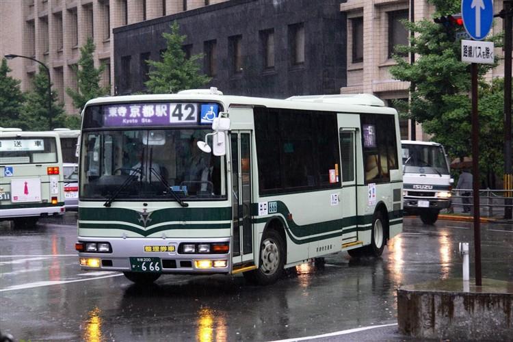 京都市交通局 京都200か・666 三菱KK-MJ27HL