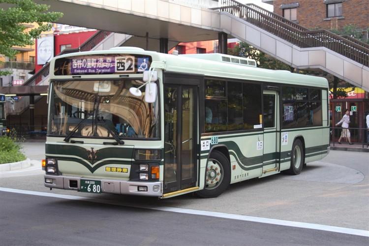 京都市交通局 京都200か・680 いすゞKL-LV834L1