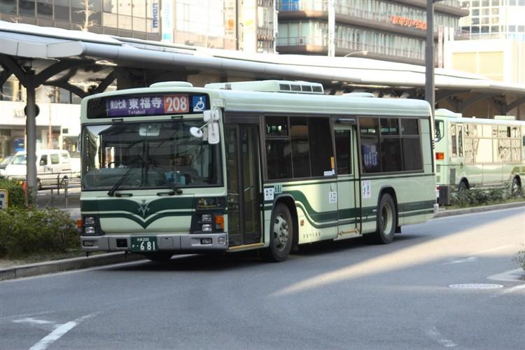 京都市交通局 京都200か・681 いすゞKL-LV834L1