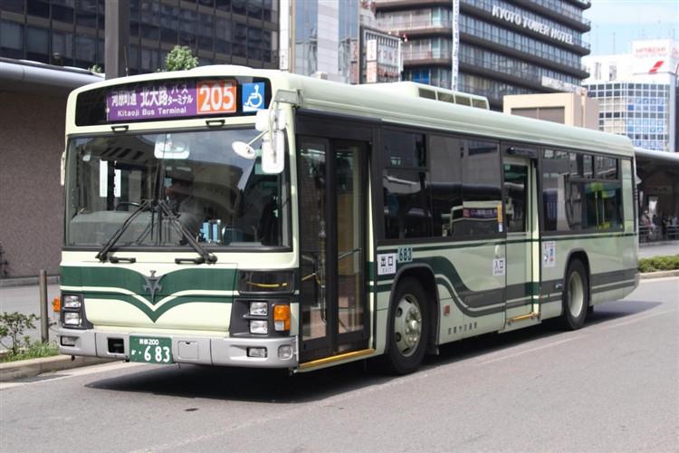 京都市交通局 京都200か・683 いすゞKL-LV834L1