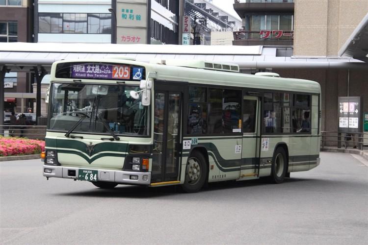 京都市交通局 京都200か・684 いすゞKL-LV834L1