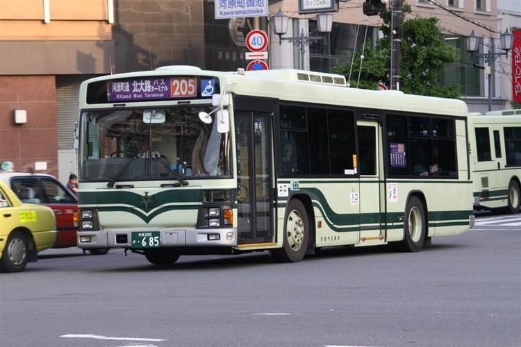 京都市交通局 京都200か・685 いすゞKL-LV834L1