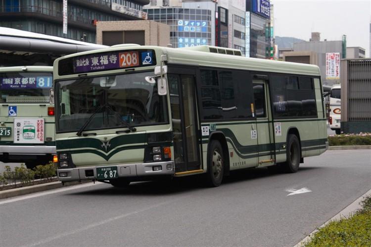 京都市交通局 京都200か・687 いすゞKL-LV834L1