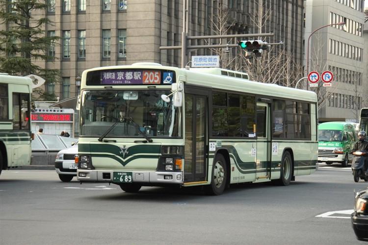 京都市交通局 京都200か・689 いすゞKL-LV834L1