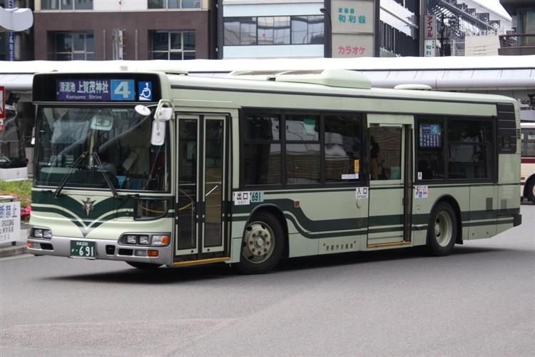 京都市交通局 京都200か・691 日野KL-HU2PMEE