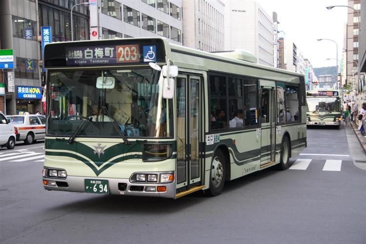 京都市交通局 京都200か・694 日野KL-HU2PMEE