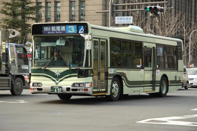 京都市交通局 京都200か・697 日野KL-HU2PMEE