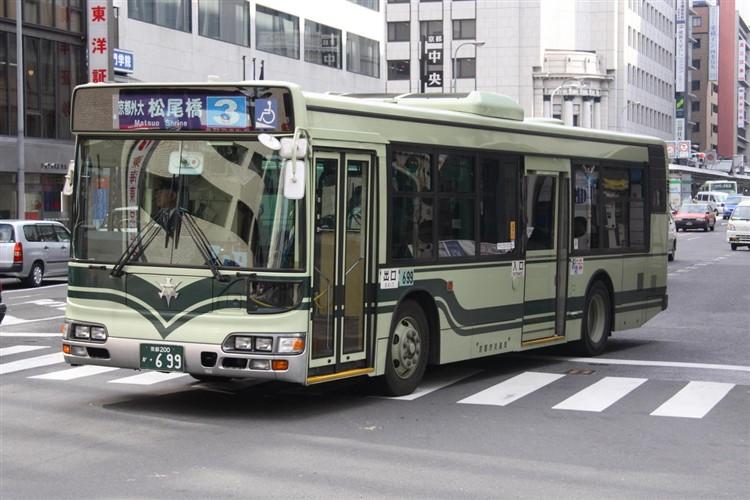 京都市交通局 京都200か・699 日野KL-HU2PMEE