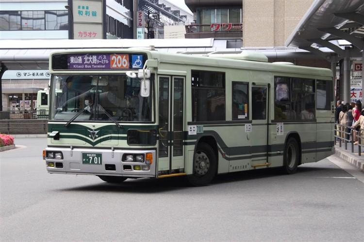 京都市交通局 京都200か・701 日デKL-UA272KAM改