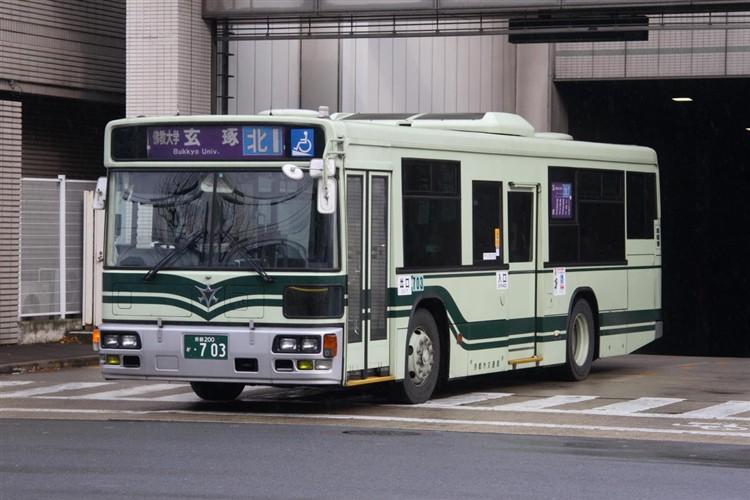 京都市交通局 京都200か・703 日デKL-UA272KAM改