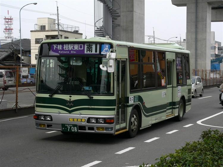 京都市交通局 京都200か・708 三菱KK-MJ27HL