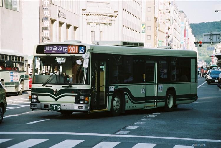 京都市交通局 京都200か・715 いすゞKL-LV834L1