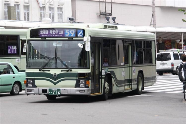 京都市交通局 京都200か・716 いすゞKL-LV834L1