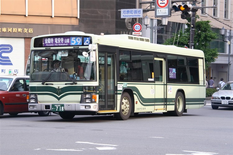 京都市交通局 京都200か・718 いすゞKL-LV834L1