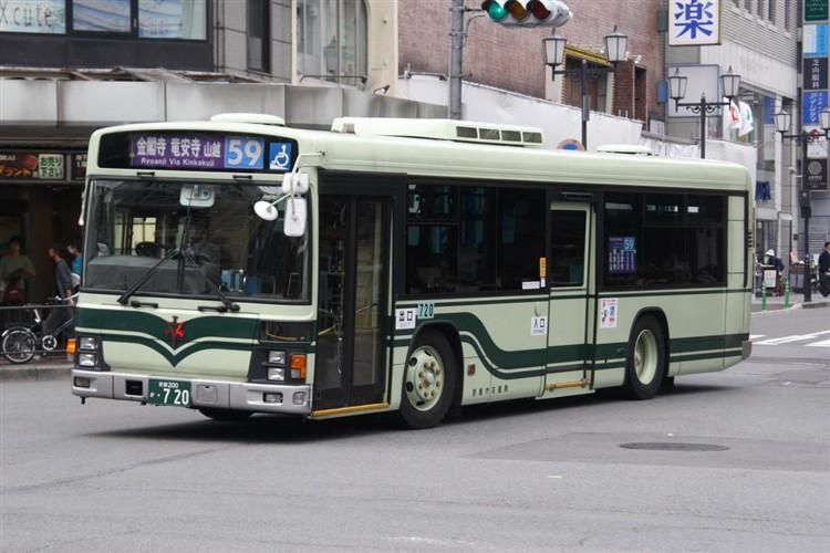 京都市交通局 京都200か・720 いすゞKL-LV834L1
