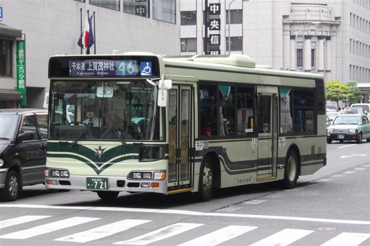 京都市交通局 京都200か・721 日野KL-HU2PMEE