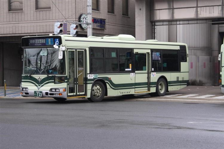 京都市交通局 京都200か・723 日野KL-HU2PMEE