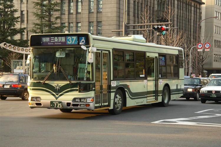 京都市交通局 京都200か・725 日野KL-HU2PMEE