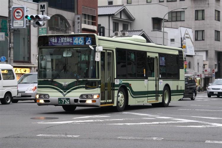 京都市交通局 京都200か・726 日野KL-HU2PMEE