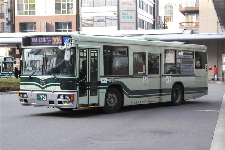 京都市交通局 京都200か・728 日デKL-UA272KAM改
