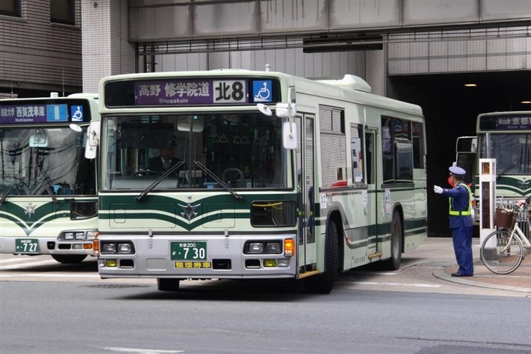京都市交通局 京都200か・730 日デKL-UA272KAM改