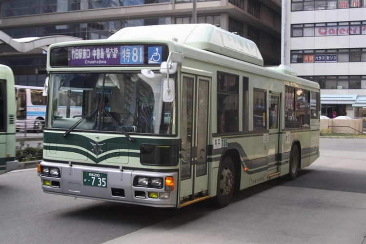 京都市交通局 京都200か・735 日デKL-UA272KAM改(CNG車両)