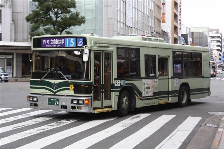 京都市バス 京都200か・・74 いすゞKC-L832L1