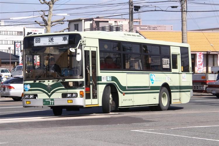 京都市バス 京都200か・・77 三菱KC-MP717K改