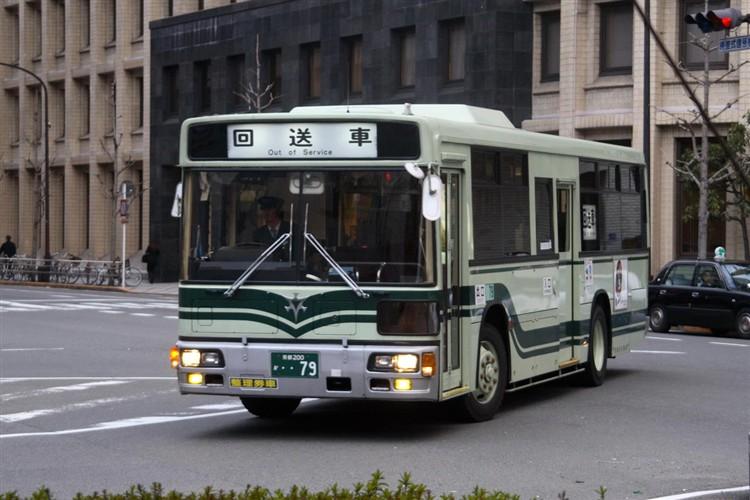 京都市バス 京都200か・・79 三菱KC-MP717K