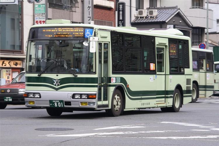 京都市交通局 京都200か・801 三菱KK-MJ27HL