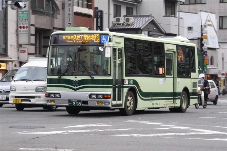 京都市交通局 京都200か・805 三菱KK-MJ27HL